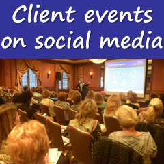 Picture - Client events on social media